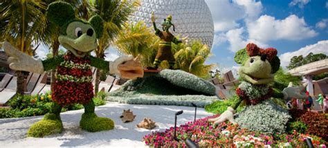 Epcot International Flower Garden Festival Actividades En Walt Disney World Mundo Disney