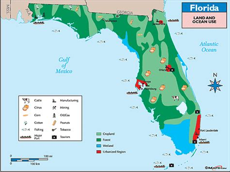 agricultural map of florida florida land use map by maps from maps world s