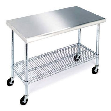 sam s club stainless steel table member s mark work table with stainless steel top 49