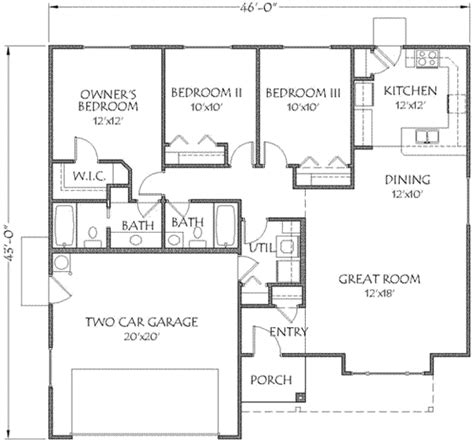 1350 sq ft house plan farmhouse style house plan 3 beds 2 baths 1350 sq ft