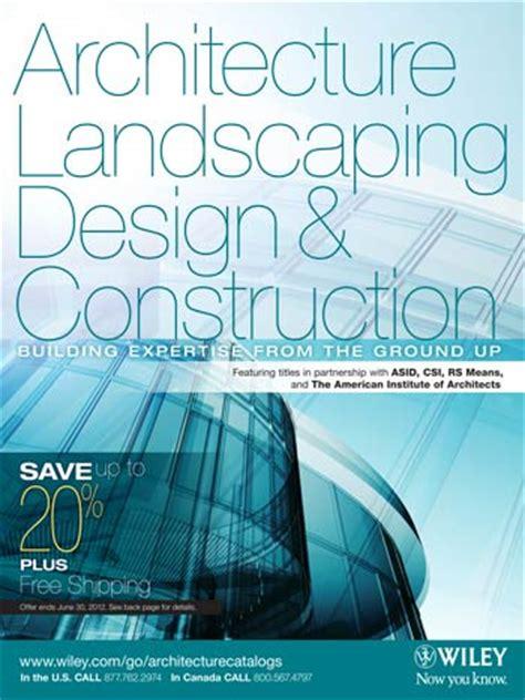 wiley landscape architecture documentation standards architectural design wiley interior design