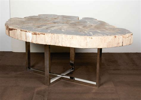 slab coffee tables outstanding large petrified wood slab coffee table at 1stdibs
