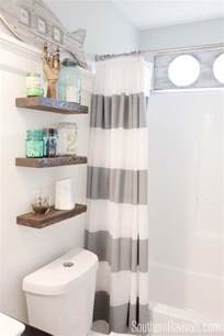 Shower Curtains Pottery Barn Nautical Guest Friendly Boys Bathroom Makeover Reveal