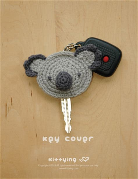cute key pattern koala key cover crochet pattern instant pdf download