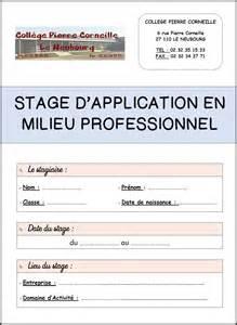 Modèle Rapport De Stage 3e modele un rapport de stage 3eme document