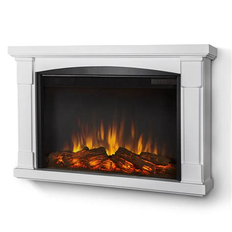 Wall Electric Fireplace Real Brighton Slim Line Wall Hung Electric Fireplace In White