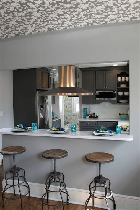 kitchen pass through ideas breakfast bar pass through design decor photos