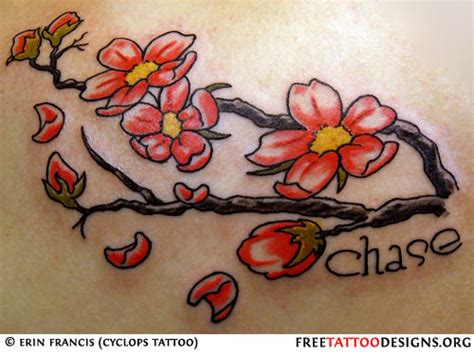 chinese cherry blossom tattoo designs cherry blossom designs