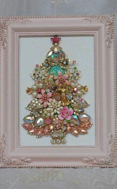 wonderful Blush Pink Christmas Decorations #2: 12-beautiful-shabby-chic-jewelry-Christmas-tree-in-a-frame.jpg