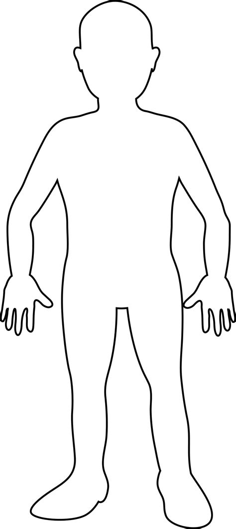 human figure template printable human drawing template clipart best
