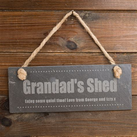Signs For Sheds by Engraved Grandad S Shed Hanging Slate Sign