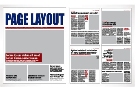 design a page layout for a magazine ezymedia newspaper and magazine publishing how to layout