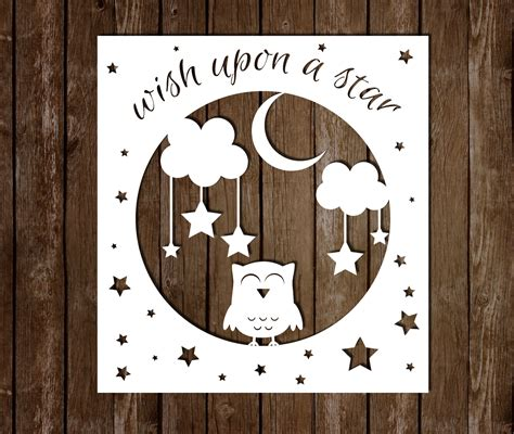 wish upon a star personal use papercutting template