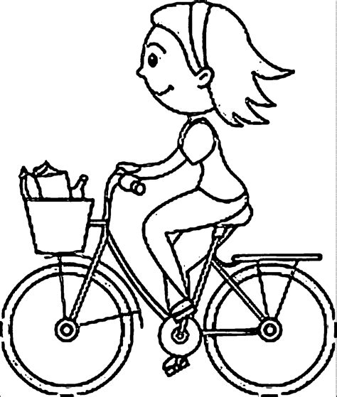 bike riding coloring pages www imgkid com the image