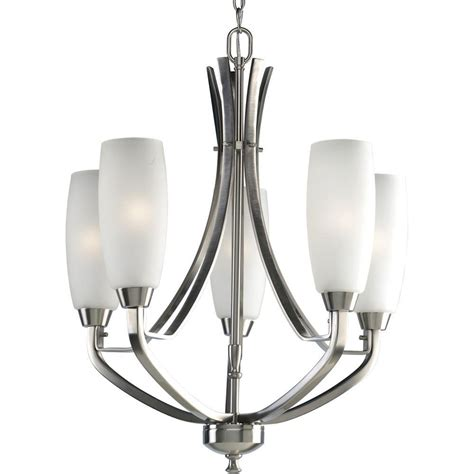 Nickel Chandelier Progress Lighting Wisten Collection 5 Light Brushed Nickel