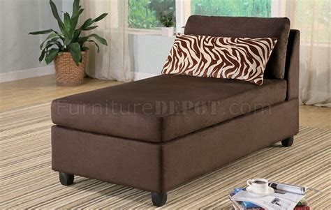 brown microfiber chaise lounge chocolate microfiber plush contemporary chaise lounger