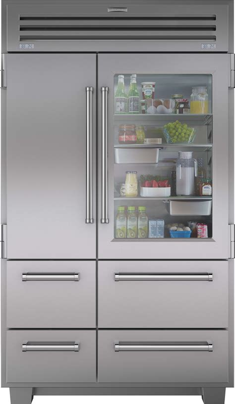 double oven tv sub zero wine cabinet microwave warming sub zero 648prog 48 inch built in side by side