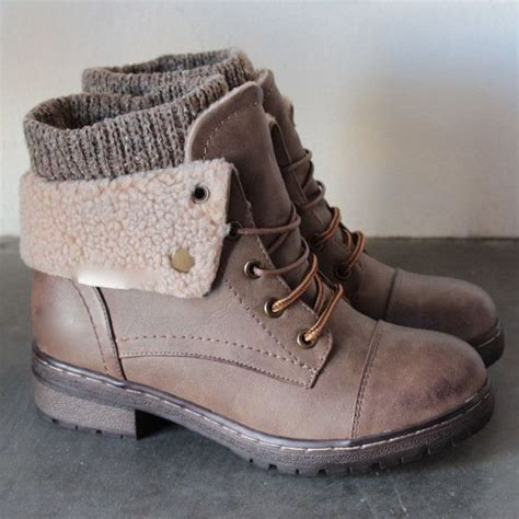 sweater ankle boots coolway bring leather knit sweater cuff ankle boots