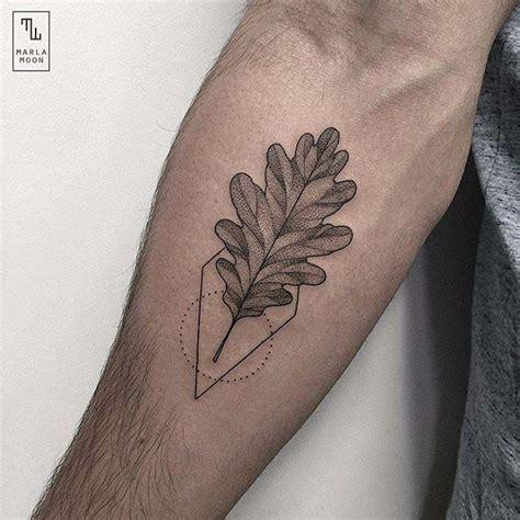 pinterest tattoo leaves tattoo leaf oak tattoo etching dots lines