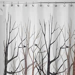 gray and brown shower curtain interdesign 45020 shower curtain forest gray black brown