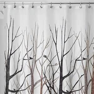 interdesign 45020 shower curtain forest gray black brown
