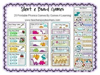 printable board games for phonics silent e board games silent e letter patterns and board