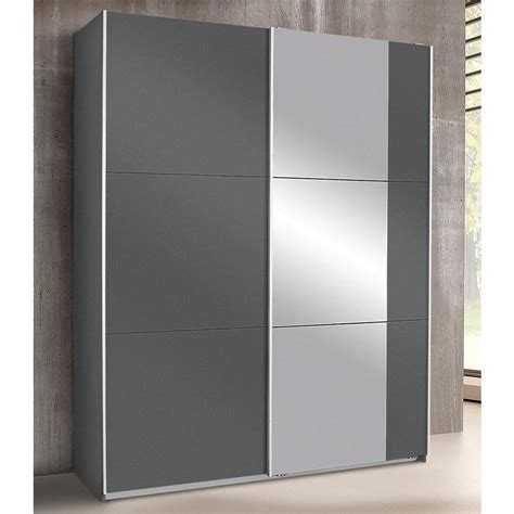 Armoire Penderie Portes Coulissantes by Armoire Penderie 2 Portes Coulissantes Miroir L 175 Cm
