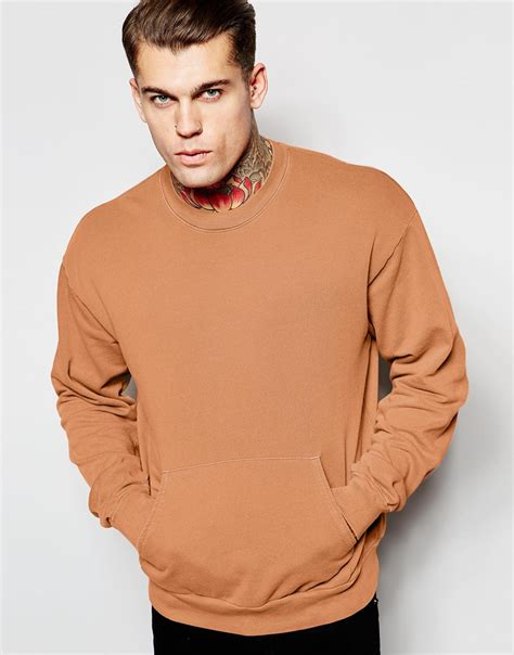 Sweater Hoodie Ryse Of Rome Front Logo lyst american apparel merican apparel pullover sweatshirt with kangaroo pocket in orange for