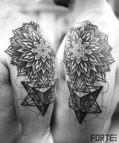 mandala tattoo edmonton mandala sacred geometry dotwork tattoo done by rob