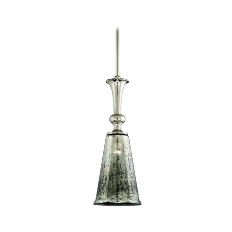Glass Pendant Light Mini Pendant Light With Mercury Glass 103 44 Destination Lighting