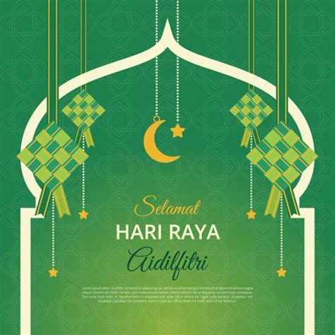 Hari Raya Card Template by Aidilfitri Greeting Card Background Vector Premium