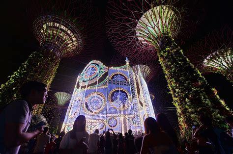 christmas lights singapore dresses up its malls and