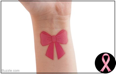 breast cancer tattoos for wrist emotive pink ribbon tattoos a symbol of and strength