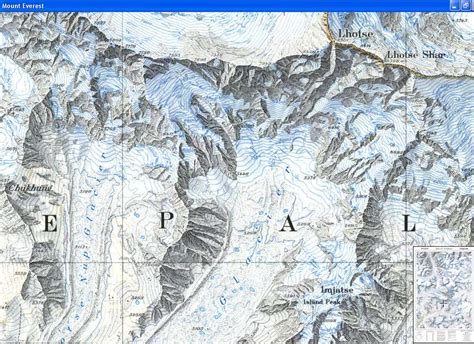 mount everest map image gallery everest maps