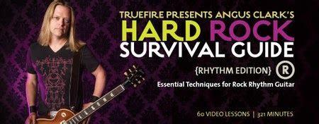 Murah Dvd Belajar Rhythm Metal Gitar Untuk Pemula Dari Library truefire angus clark s rock guitar survival guide