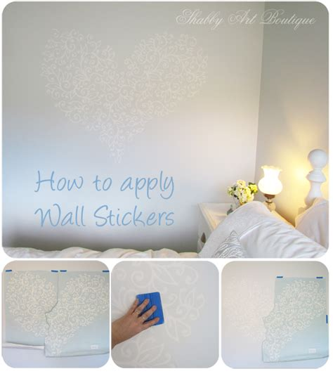How To Apply Wall Art Stickers make over monday budget bedroom shabby art boutique