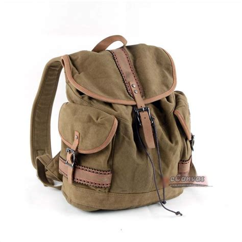 Backpack Retro retro fashion backpack khaki backpack heavy duty