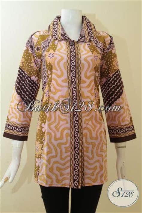 Gunungan Fitxl Ld 100 Cm blus batik klasik desain modern pakaian batik resmi untuk