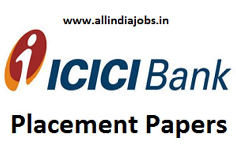 In Icici Bank For Mba Freshers by Icici Bank Placement Papers Pdf 2017 2018
