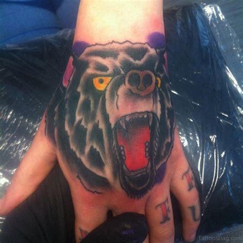 tattoo bear finger hand tattoos