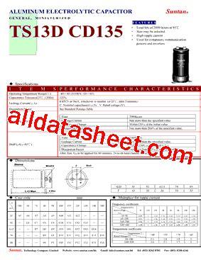 ts13dx cd135 datasheet pdf suntan capacitors