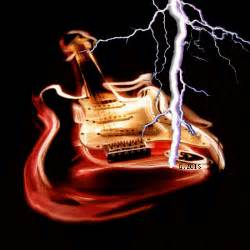 Guitar directly to lightning 3d gif animated danger bass music