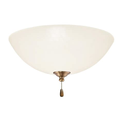 home depot emerson ceiling fans emerson opal matte led array antique brass ceiling fan