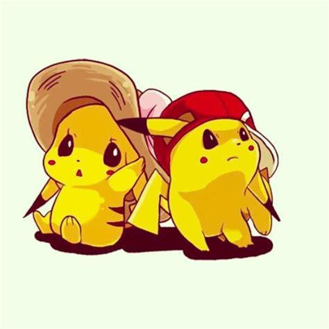 cute pikachu cute pikachu with hat by pikachu pokemon cute couples cartoon pinterest cute