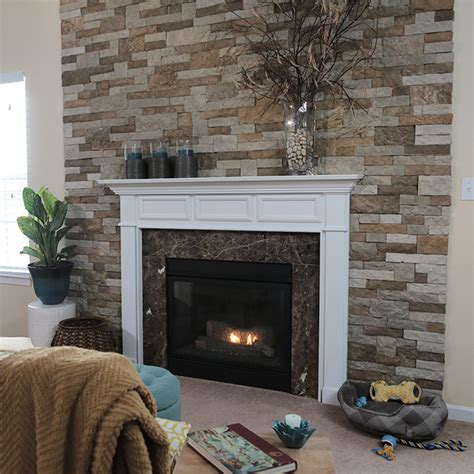 Decorating A Manufactured Home by Install Faux Stone Veneer