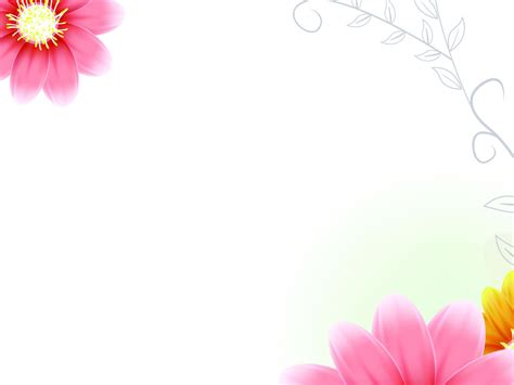 Background Images Flowers Pink Group 52 Flower Powerpoint Template