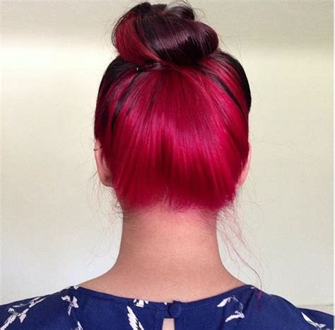 hair color on bottom fire engine red dye bottom layer of hair hairstyles
