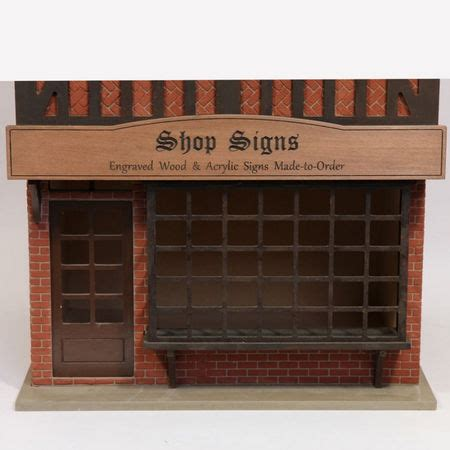 bromley dolls house engraved dolls house shop sign components bcs02 from bromley craft products ltd