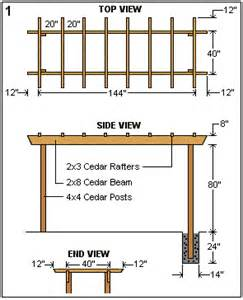 Pergola In Plan by Cedar Pergola Arbor Plans Arbors Tellises And Pergolas