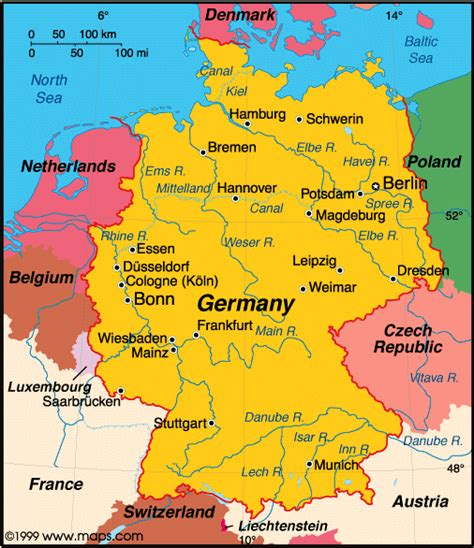 map of germany today map of germany